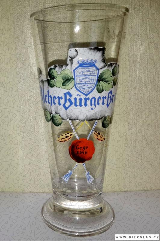 Bierglas Brauerei Aich