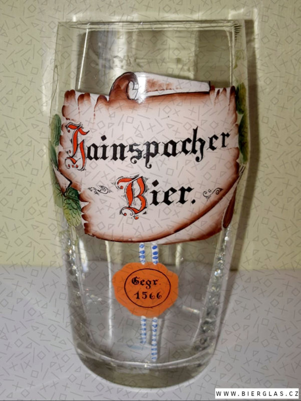 Bierglas Brauerei Hainspach