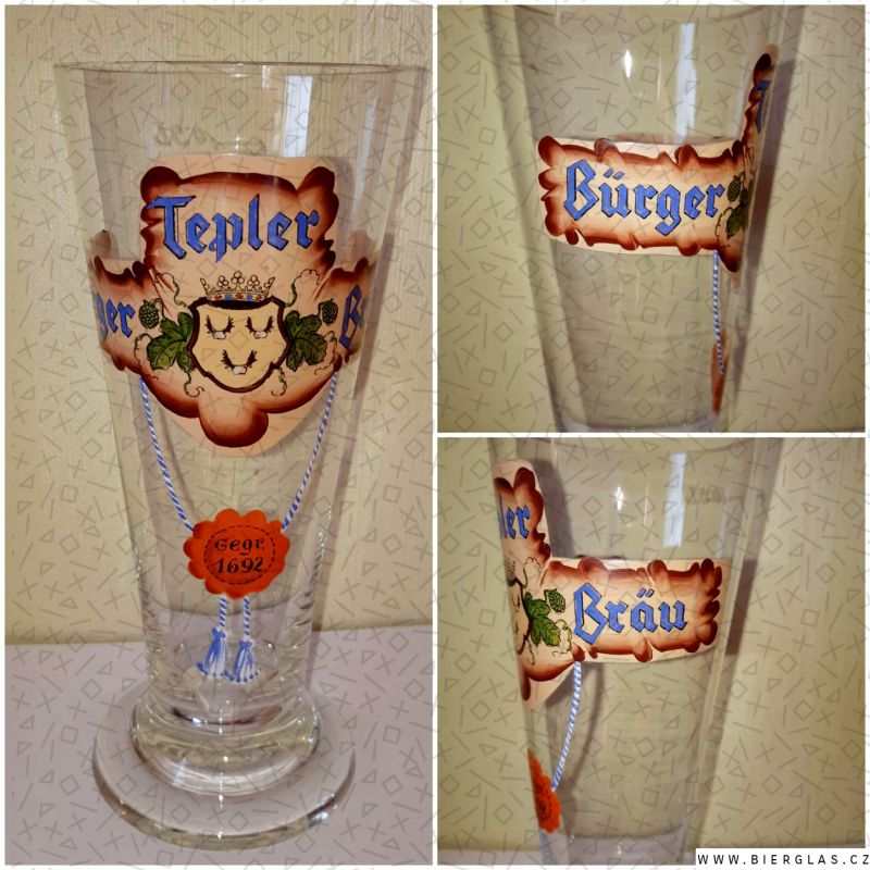 Bierglas Brauerei Tepl